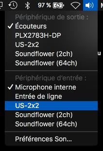 Alt + Click sur le menu son